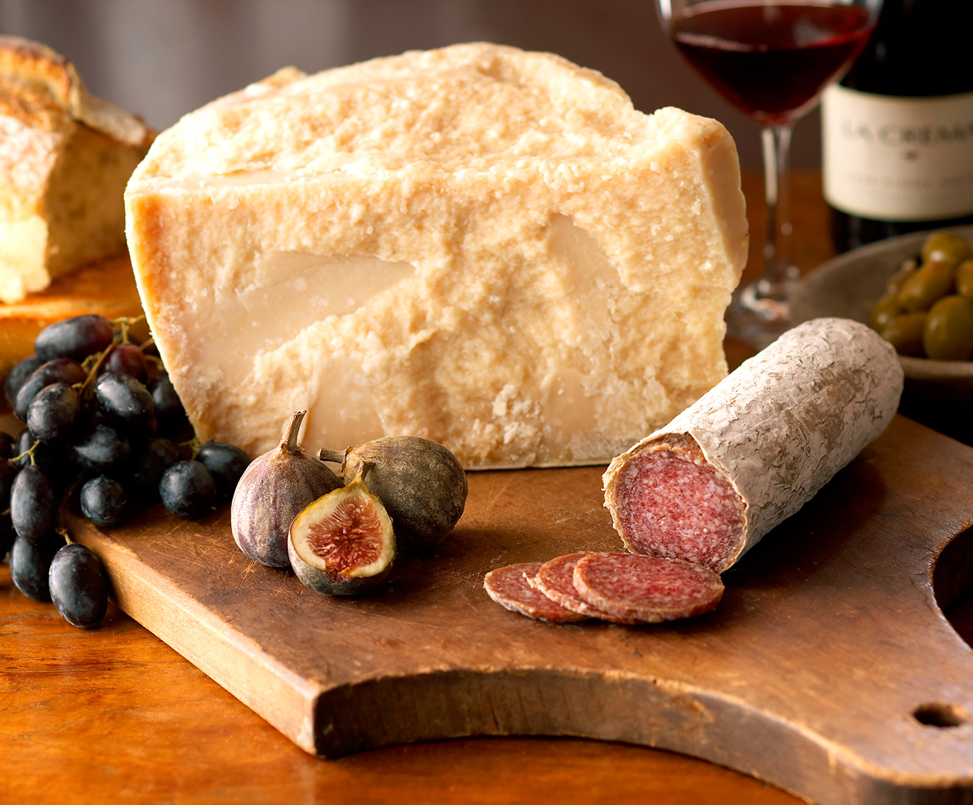 Parmigiano Reggiano, Salami and Fruit