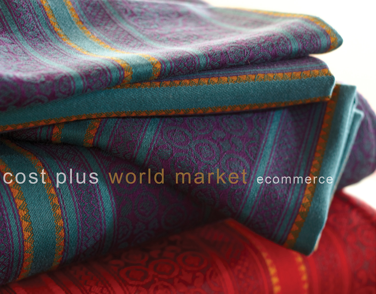 Stack of Textiles for Cost Plus World Market