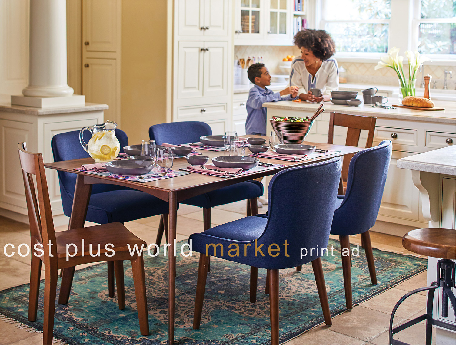 Dining Table with Mom and Child