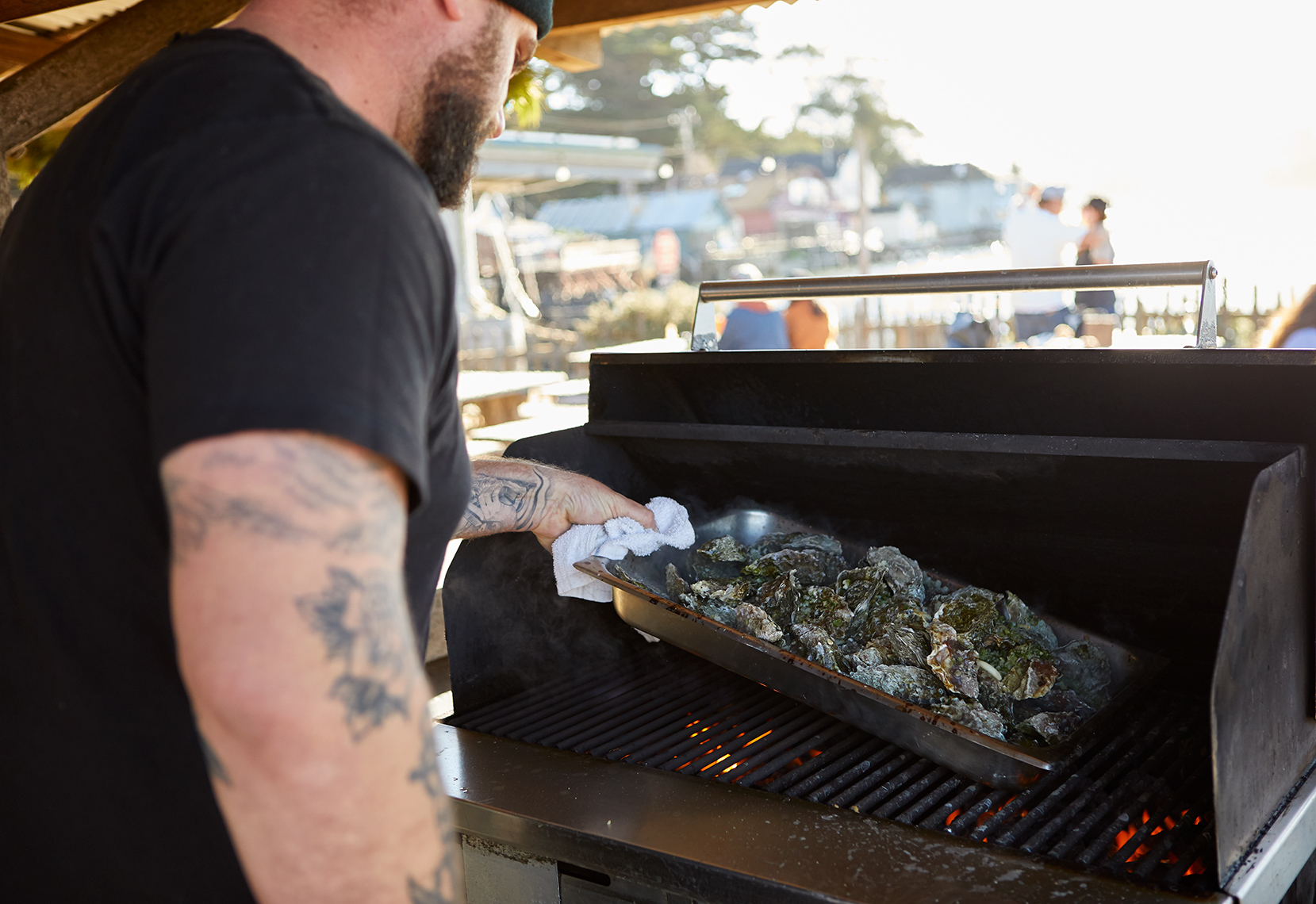 BBQ-ing Oysters