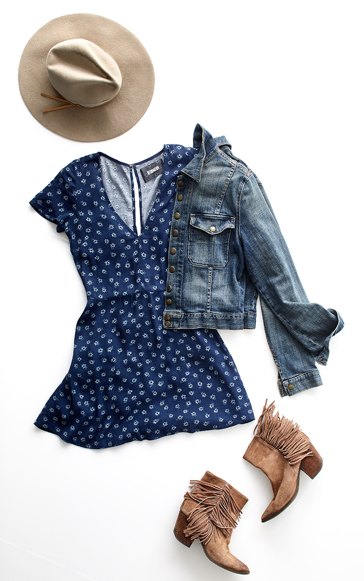 Jean jacket and dress