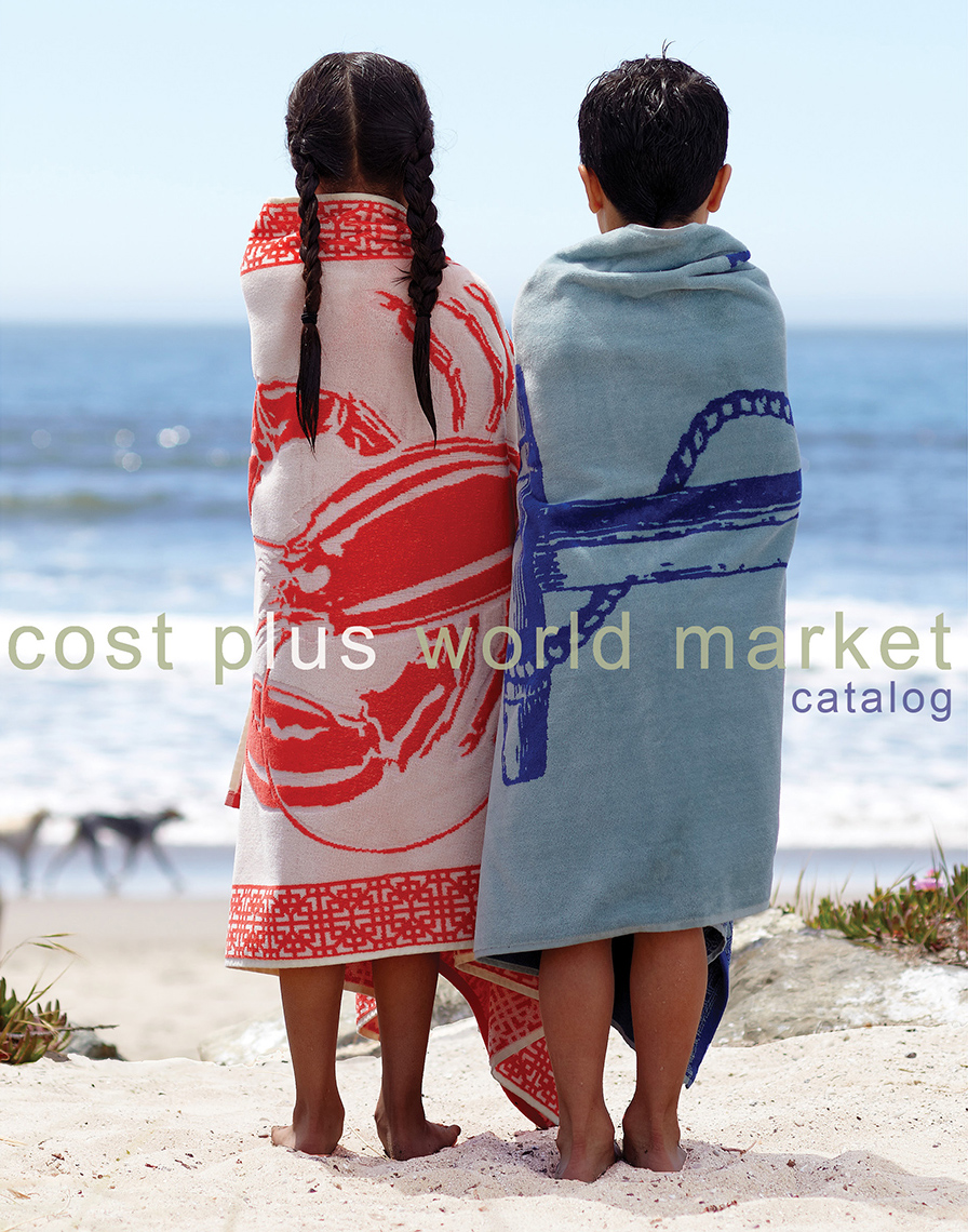 Kids Wrapped in Towels at the Beach