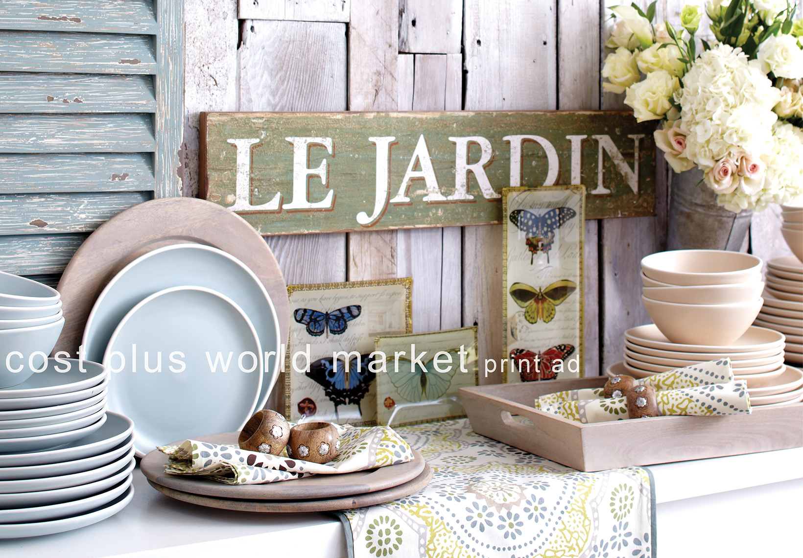 Le Jardin Plates for Cost Plus World Market