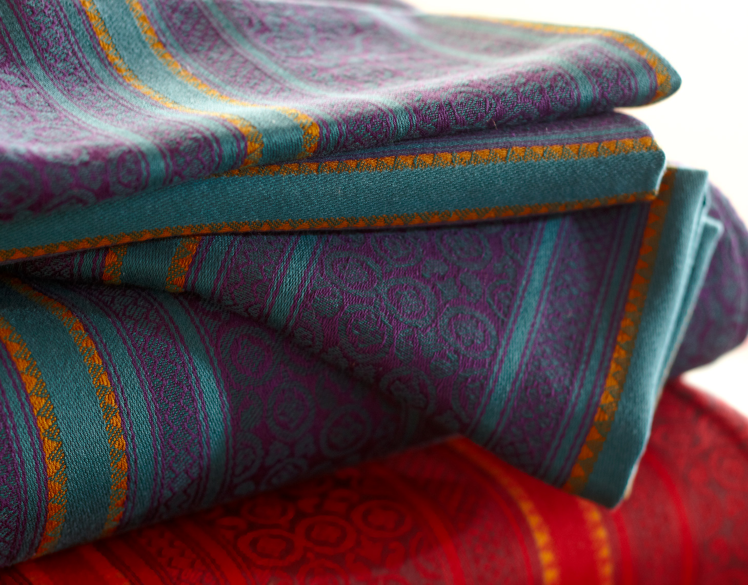 Stack of tablecloths