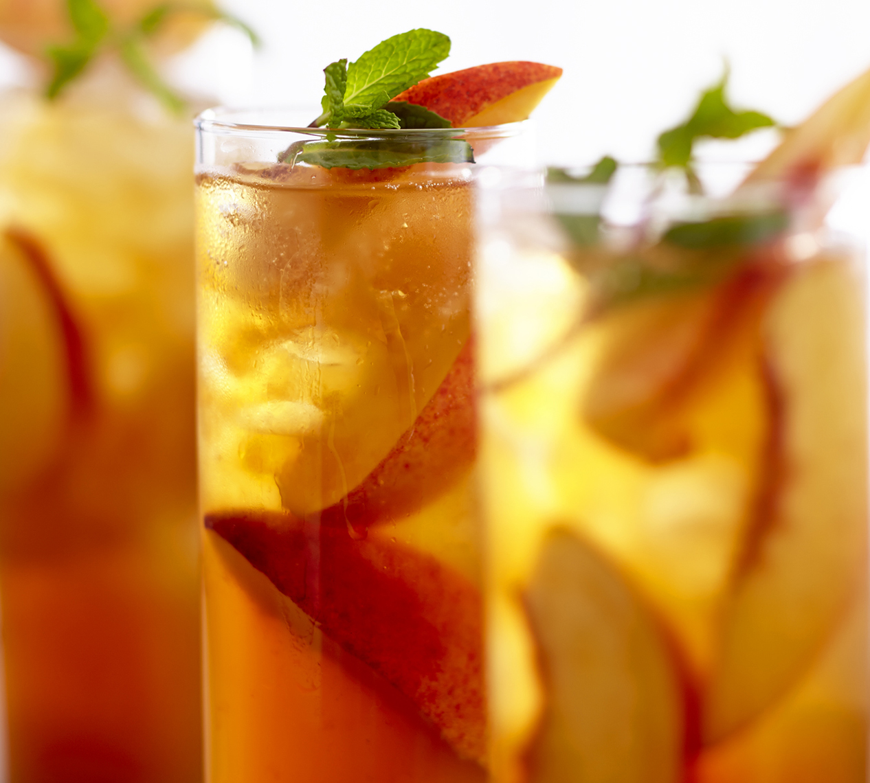 Glass of Ice Tea with fruit